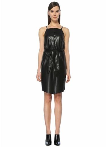 Nanushka İnce Askılı Mini Elbise Siyah